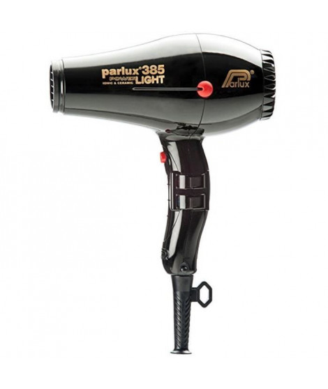 PARLUX Seche-cheveux - 385 Power Light Ionic et Ceramic - Débit d'air 79 m/h - 2150 W - Noir