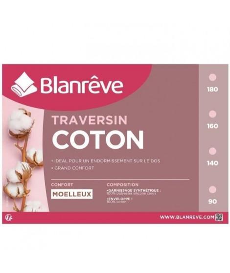 BLANREVE Traversin en coton - 160 cm - Blanc