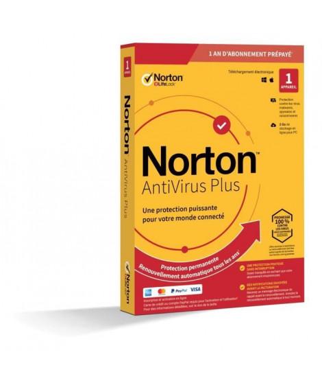 NORTON Antivirus Plus 2 Go FR 1 Utilisateur 1 Appareil - 12 Mo STD RET ENR MM