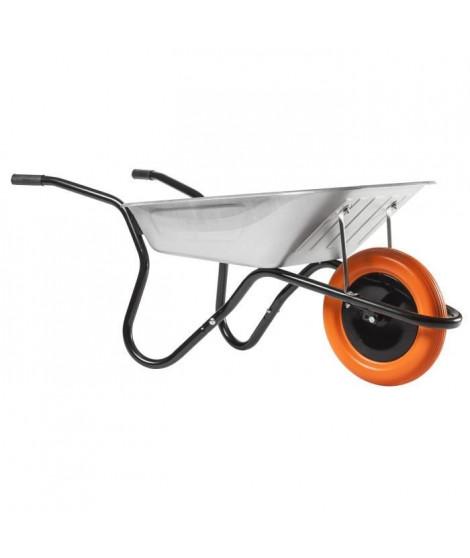 HAEMMERLIN Brouette Bibox Smart - Caisse galvanisée : 90 L - Roue increvable