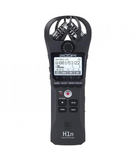 Zoom H1n Enregistreur numérique 2 pistes (1 piste stéréo) - 2 micros a condensateur en configuration X/Y a 90°, jusqu?