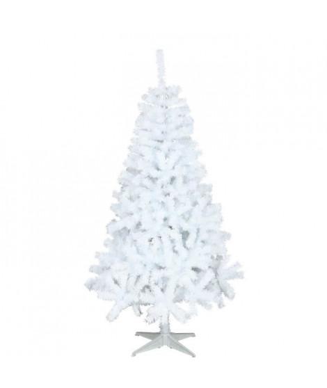 AUTOUR DE MINUIT Sapin Canada- 650 branches - H 180cm - Blanc