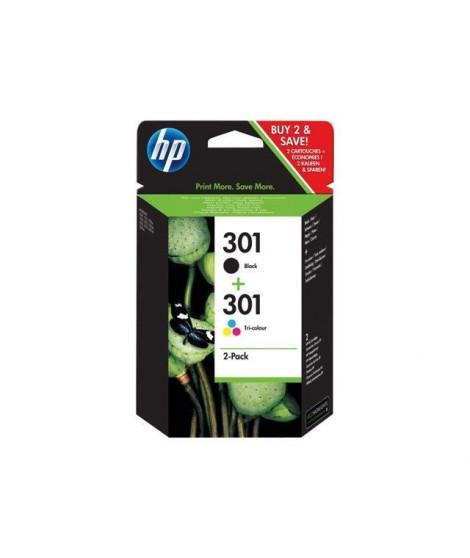 HP 301 Pack de 3 cartouches Jet d'encre - Capacité standard - Noir/Cyan/Magenta/Jaune