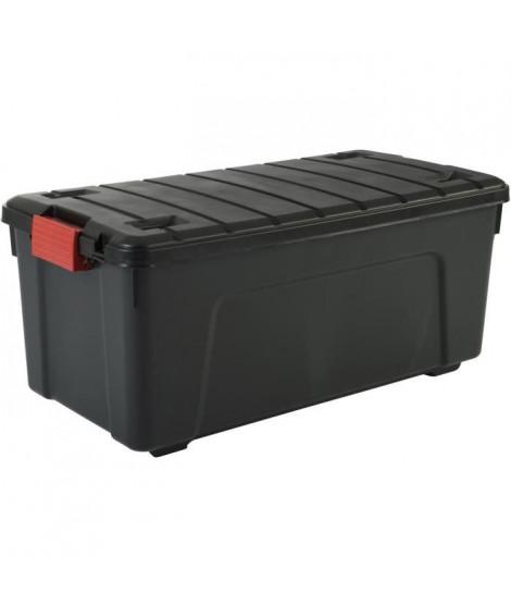 IRIS OHYAMA Lot de 3 boites de rangement bricolage - Store It All - 75 L - Noir et rouge - 78 x 39,5 x 35 cm