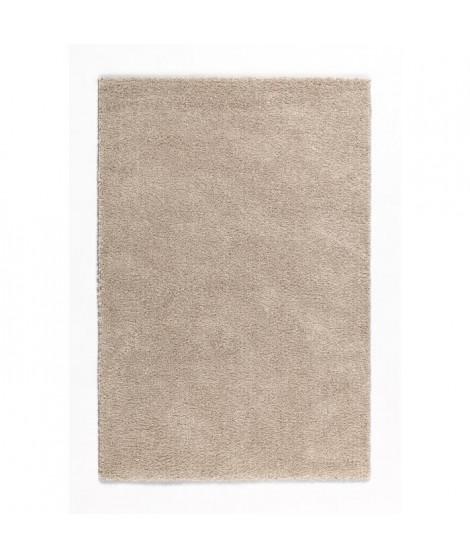 TRENDY Tapis de couloir Shaggy en polypropylene - 80 x 140 cm - Beige