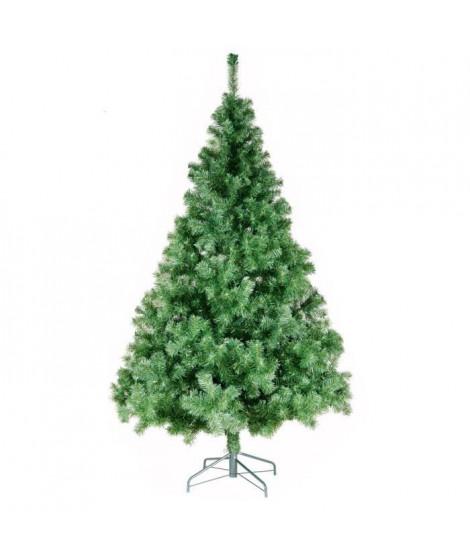Sapin de Noël artificiel Norway - 780 branches - Ø 98 x H 180 cm - Vert - Avec pied