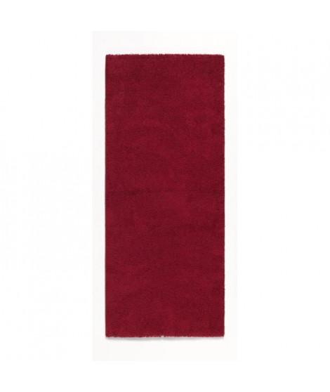 TRENDY Tapis de couloir Shaggy en polypropylene - 80 x 300 cm - Rouge