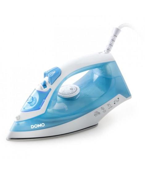 DOMO DO7054S Fer a repasser a vapeur 100 gr/mn 2000W - Blanc/Bleu