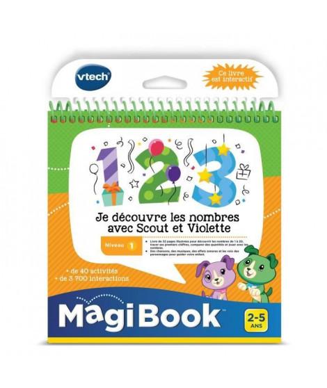 VTECH - Livre Interactif Magibook - Je Découvre Les Nombres Avec Scout Et Violette