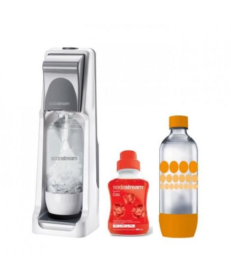 SODASTREAM Pack : Machine a gazéifier Cool Titan + 1 concentré cola 500ml + 1 bouteille Grand modele Pet