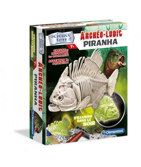 CLEMENTONI Archéo Ludic - Piranha Phosphorescent - Science & Jeu