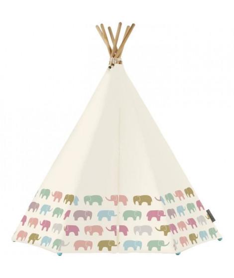 AROUND THE CRIB  - Tente Rainbow Elephant Tent w/LED & MAT