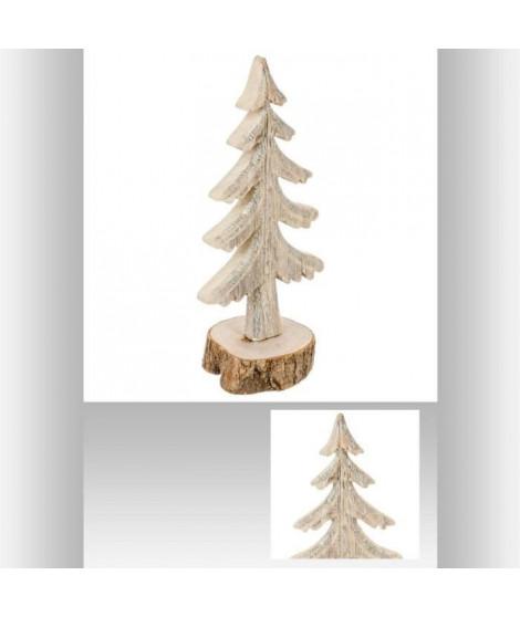 FEERIC LIGHTS & CHRISTMAS Sapin Bois sur buche - 26 cm