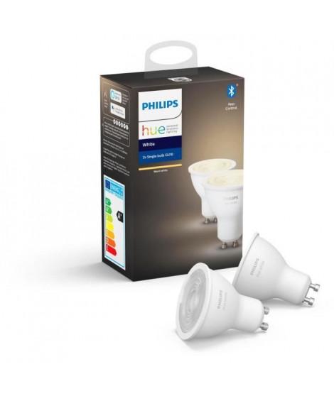 PHILIPS HUE Pack de 2 ampoules White - 5,5 W - GU10 - Bluetooth