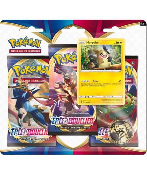 POKEMON Epée & Bouclier 1 - Pack 3 boosters (30 cartes Pokémon) - Modele aléatoire