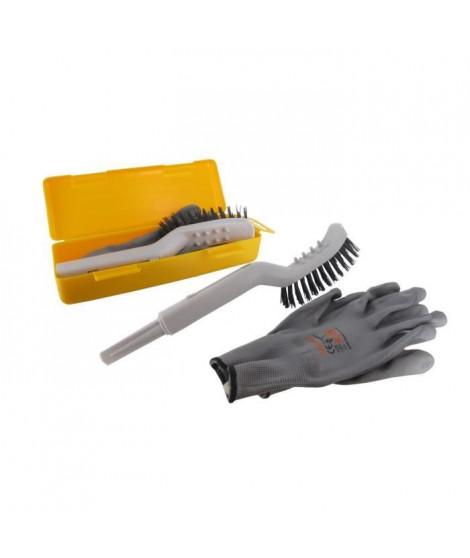 JARDIN PRATIC Outil de nettoyage pour robot de tonte avec raclette - Brosse dure et brosse souple et picots de nettoyage des …