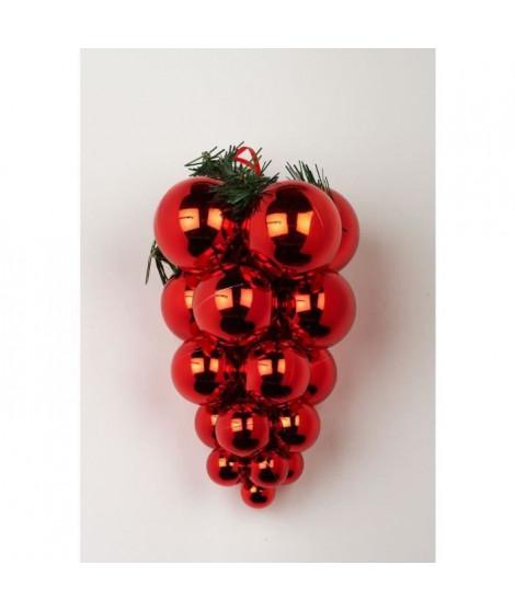 Grappe de Noël - 25 cm - Rouge