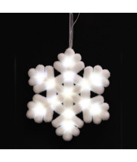 Suspension de Noël Flocon lumineux - 25 x 3 cm - Blanc