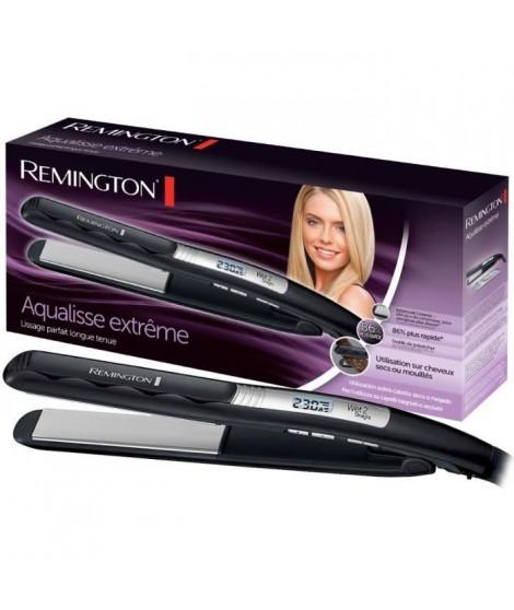REMINGTON S7202 - Lisseur cheveux mouillés ou secs Aqualisse - Revetement ADVANCED CERAMIC - Noir