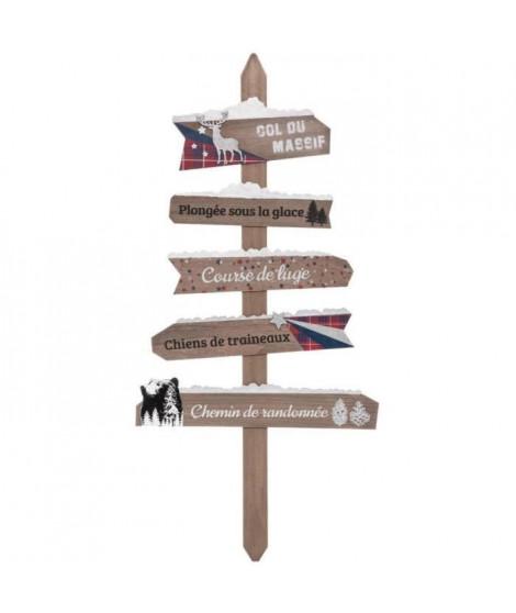 FEERIC LIGHTS & CHRISTMAS Pancarte en bois - 110 cm - Beige foncé