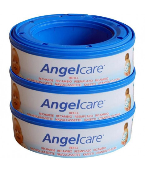 ANGELCARE Recharges Rondes Compatibles : Classique, Mini, Comfort, Deluxe x3