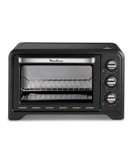MOULINEX OX444810 -  Mini four grill - 19L - 1380 W - Grill 740 W - Chaleur tournante - Noir