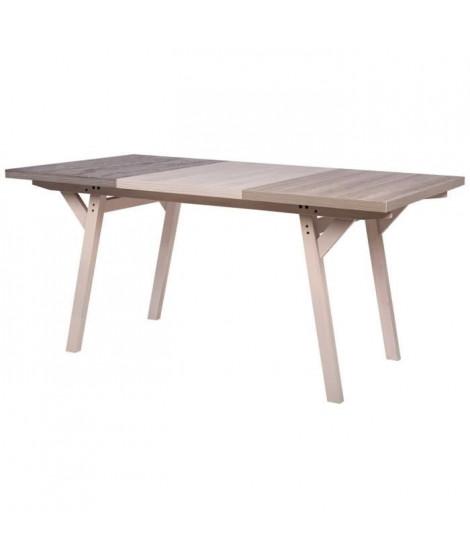 CAIRO Table de séjour - Bois et noir - L 160 x P 90 x H 76 cm