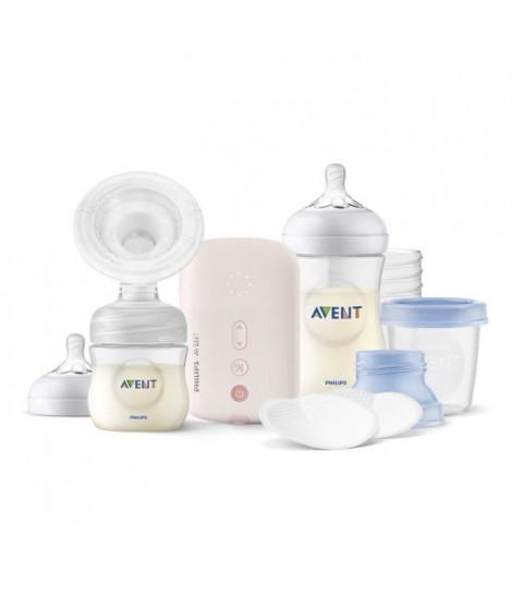 PHILIPS AVENT SCD395/21 PACK Tire lait électrique simple + 3 biberons + coussinets + pots de conservation + accessoires + housse