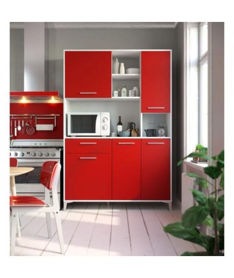 ECO Buffet de cuisine L 120 cm - Rouge mat