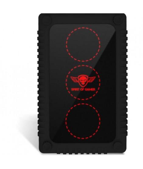 SPIRIT OF GAMER Boîtier externe RGB Gaming Safebox pour disques durs 2,5