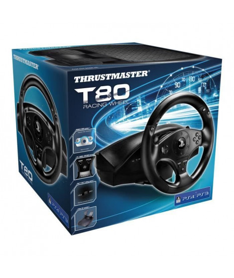 Thrustmaster Volant T80 RW OFFICIEL - PS3 /PS4