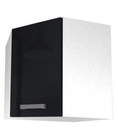 START Meuble de cuisine haut d'angle L 58 cm - Noir brillant