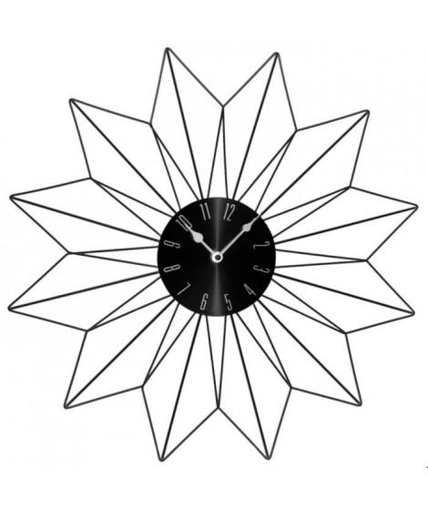 Horloge en métal Etoile - Ø50 cm - Noir