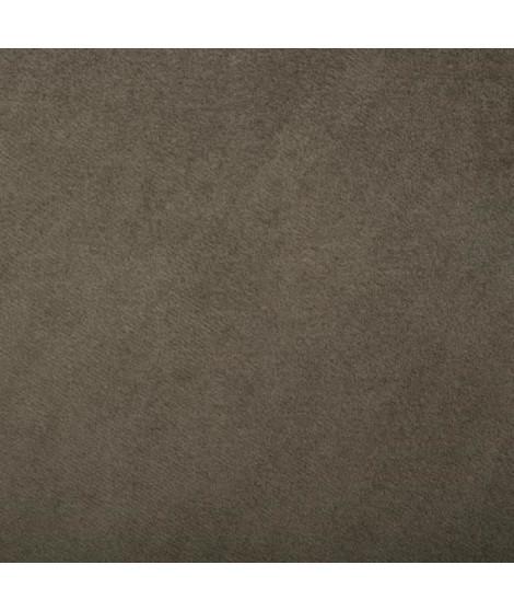 Tabouret Colony en velours et pieds en métal - L. 35 x l. 35 x H. 39.5 cm - Vert kaki