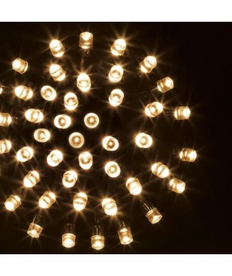 FEERIC LIGHTS & CHRISTMAS Guirlande électrique extérieure Technobase - 80 leds - 8 m - Blanc chaud