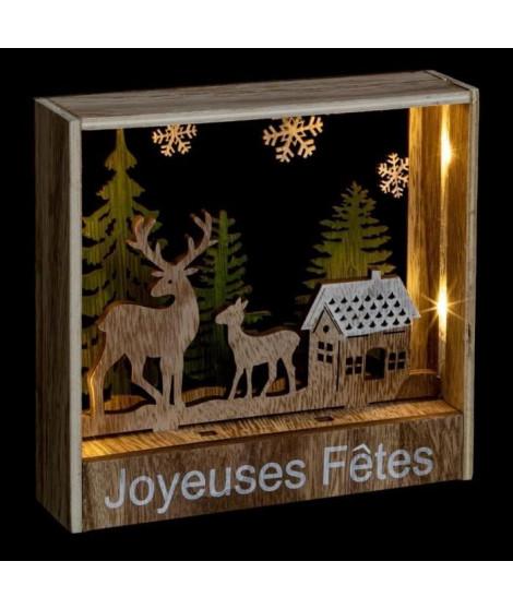 FEERIC LIGHTS & CHRISTMAS Décoration a poser intérieur Rennes - 26 LED - H 16 cm