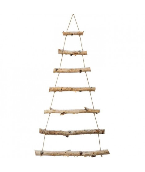 FEERIC LIGHTS & CHRISTMAS Sapin mural - 70 cm - Bois Clair