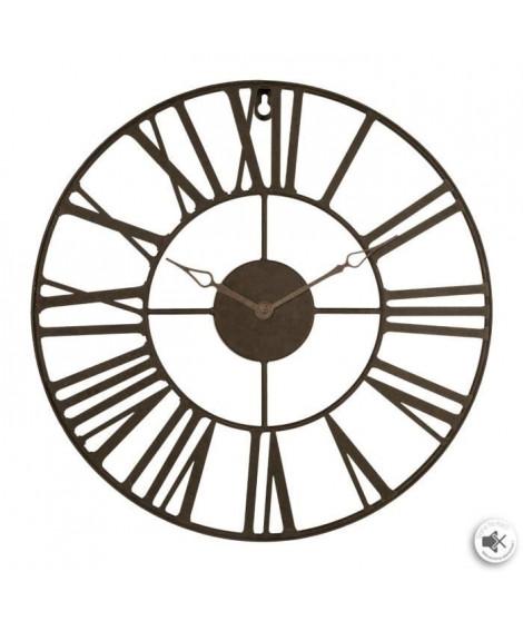 Horloge en métal vintage - Ø36,5 - Marron