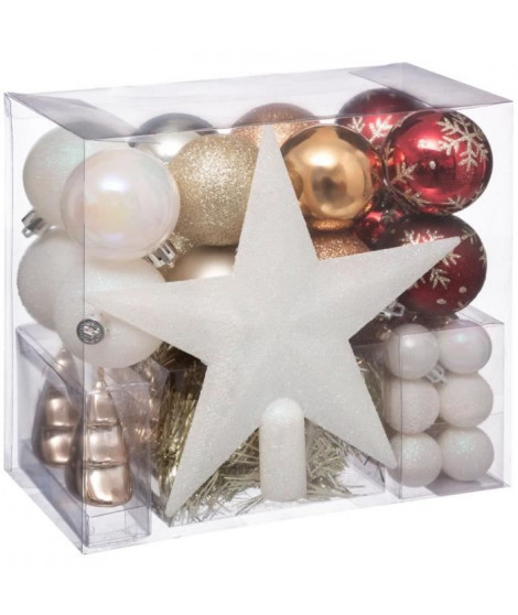 FEERIC LIGHTS & CHRISTMAS Boules de Noël Kit de 44 pieces