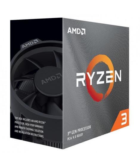 AMD Processeur Ryzen 3 3100 (4C/8T, 18MB Cache, 3.9 GHz Max Boost) (100-100000284BOX)