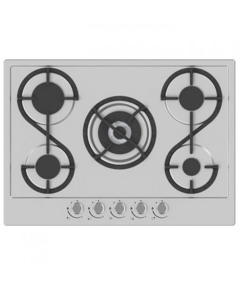 HUDSON HTG 5 I - Table de cuisson gaz - 5 foyers - L 60 cm - Revetement email - Inox
