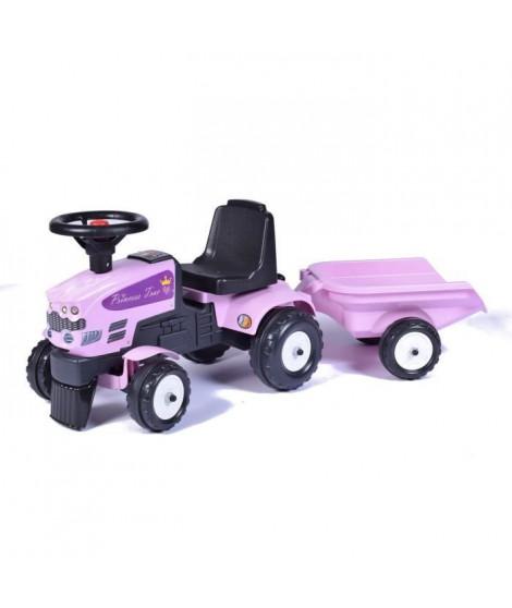 FALK Tracteur Baby Princesse + Remorque