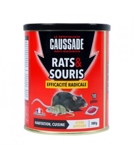 CAUSSADE Boîte 10 pâtes appât pret a l'emploi - Pour rats & souris - 100 g