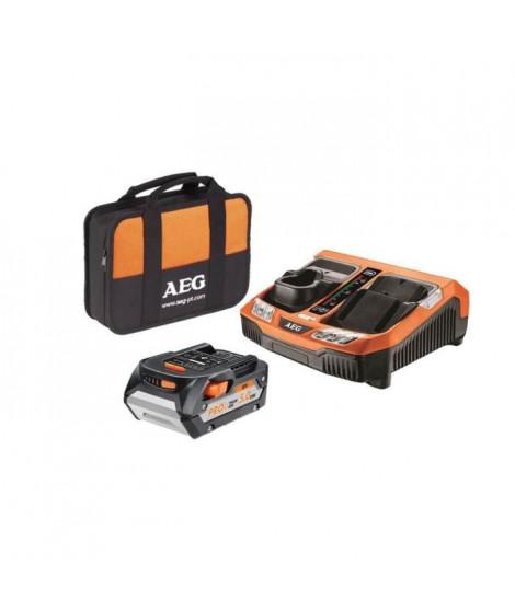 AEG Batterie SETL1850BLK - 18 V - 5 Ah Li-ION - Avec chargeur