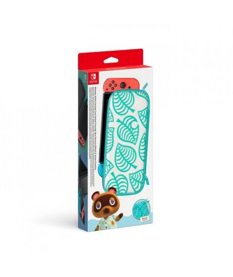 Pochette de transport Edition Animal Crossing : New Horizons et protection d'écran Nintendo Switch