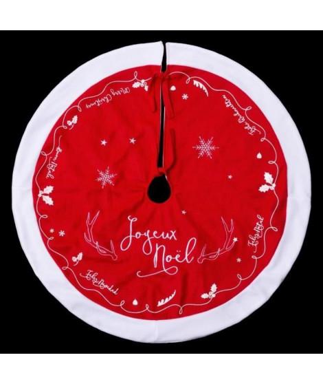 FEERIC LIGHTS & CHRISTMAS Tapis de sapin en feutrine avec traineau surpiqué - D90cm