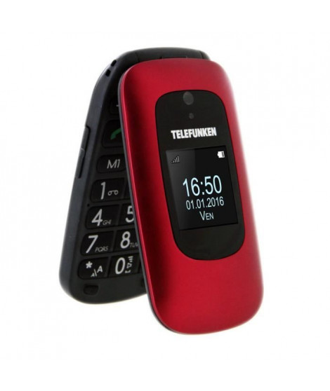 TELEFUNKEN Téléphone mobile a clapet TM 250 IZY Senior Rouge