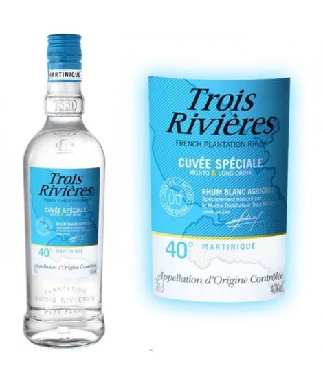 Rhum Trois Rivieres blanc cuvée spéciale  40° 70cl