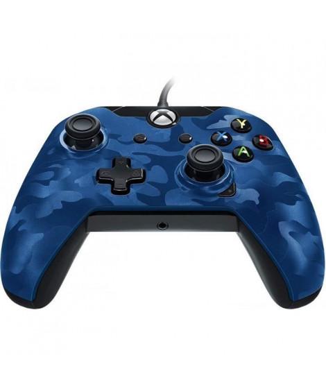 Manette PDP Afterglow Camo bleue V2 pour Xbox One et PC