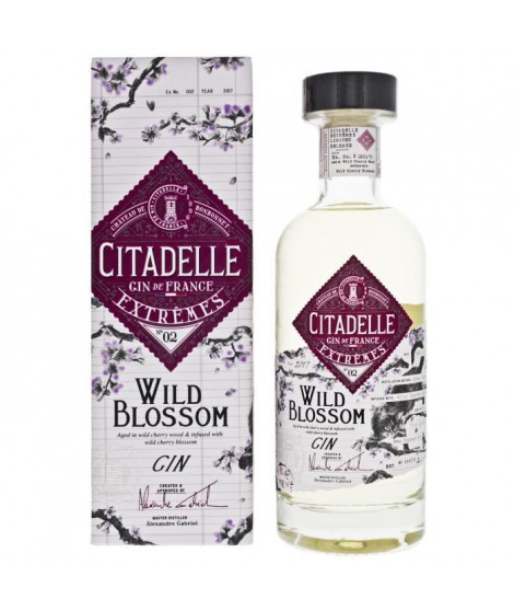 CITADELLE Gin Extremes N°2 Cherry Blossom - 70 cl - 42,6°
